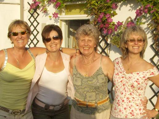 With Mum & Sisters
